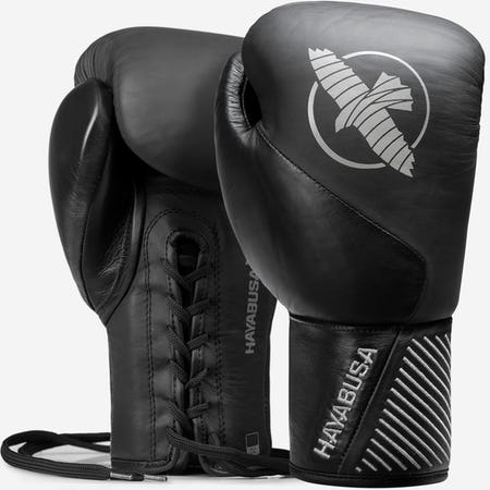 Hayabusa Pro Lace Up Leather Boxing Gloves