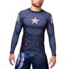 Hayabusa Captain America Long Sleeve Rash Guard